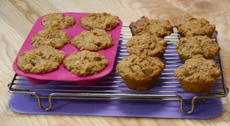 Hedonistic Diabetic Pear and Brand Muffins