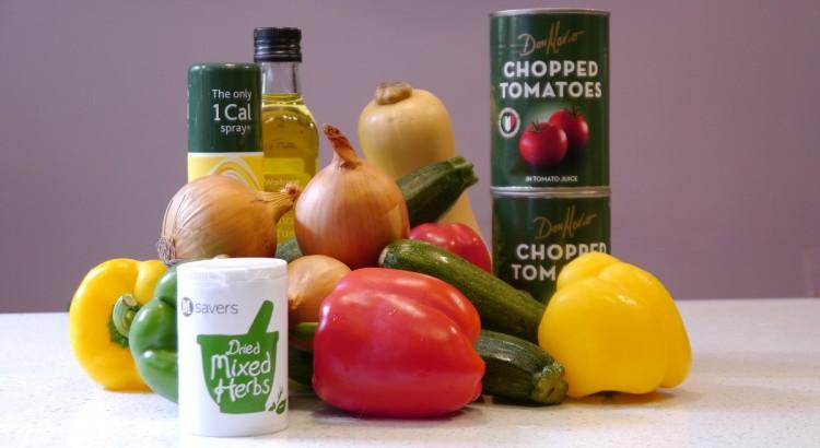Roasted Veg Lasagne Ingredients