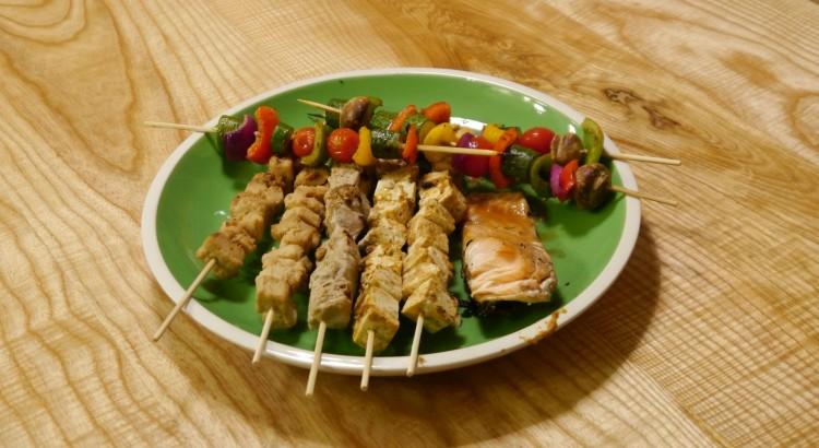 Quorn & Tuna kebabs